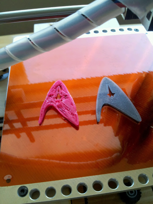 3D printed Star Trek badges